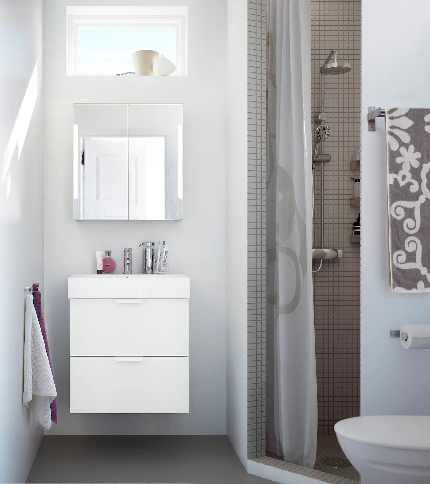 Badezimmer mit weißen Möbeln einrichten   IKEA Deutschland