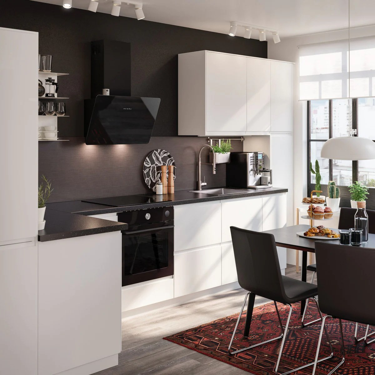Cucina Componibile Voxtorp Bianco Opaco Ikea