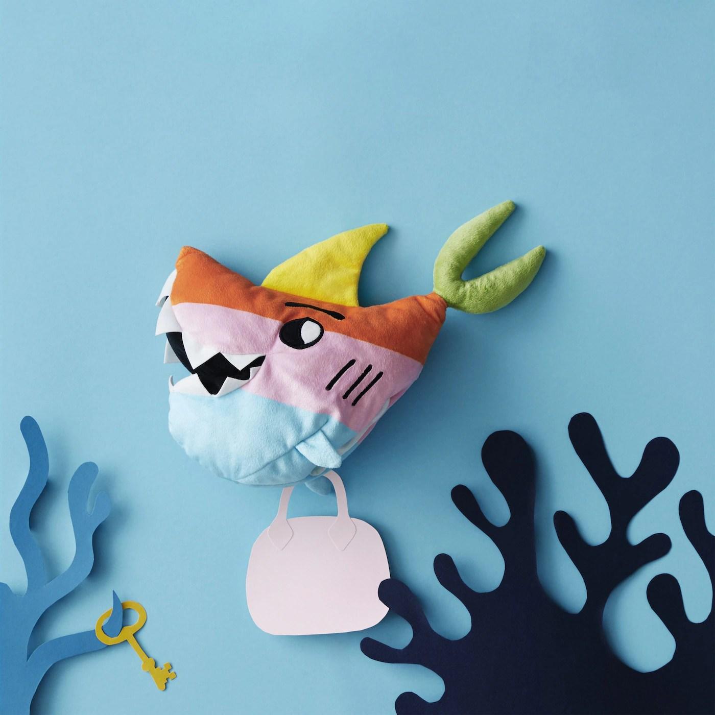 Mobelaufkleber Fur Ikea Slakt Bett Weisser Hai Haie Kat6 Meer Wasser Blau Bed Aufkleber Mobelfolie Tur