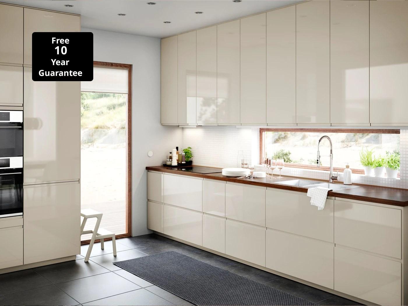 high gloss kitchen ikea