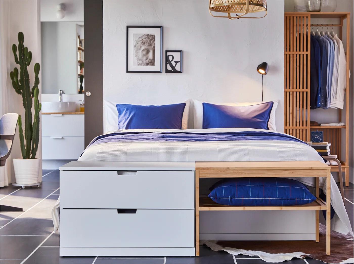 Chambre A Coucher Et Rangements En Bambou Ikea
