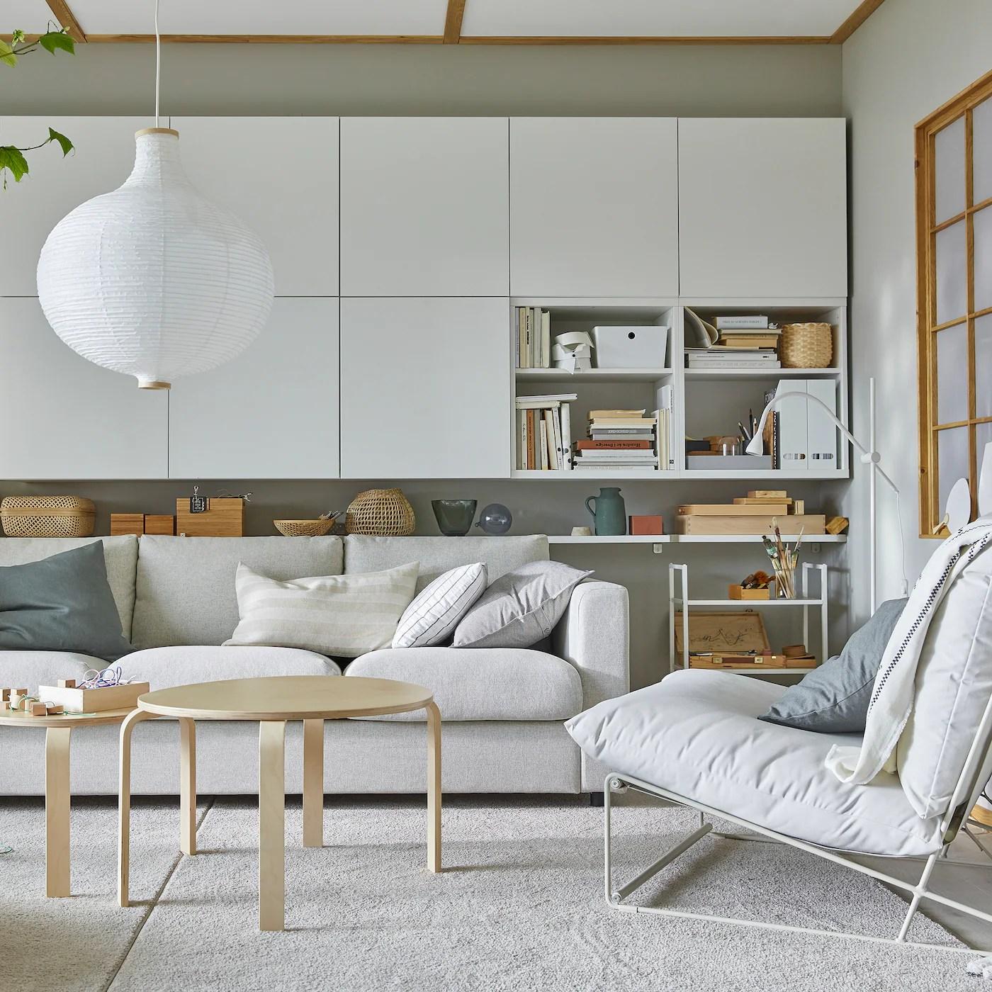 Snyggt Och Forvaringsvanligt Vardagsrum Ikea