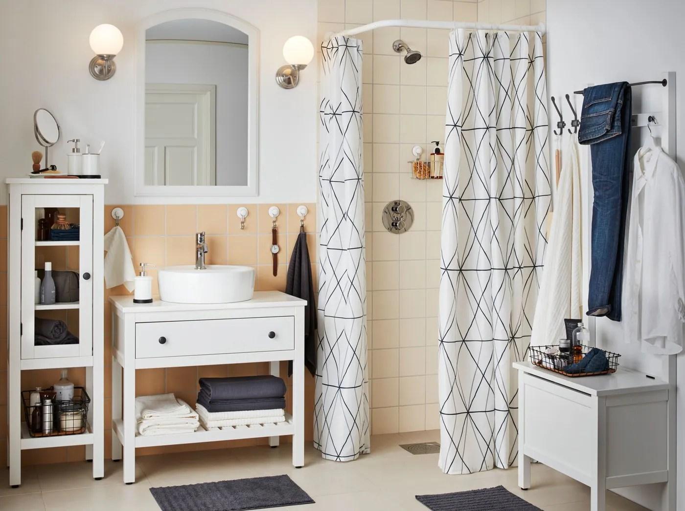 Ordentliche geschlossene Aufbewahrung im Badezimmer   IKEA