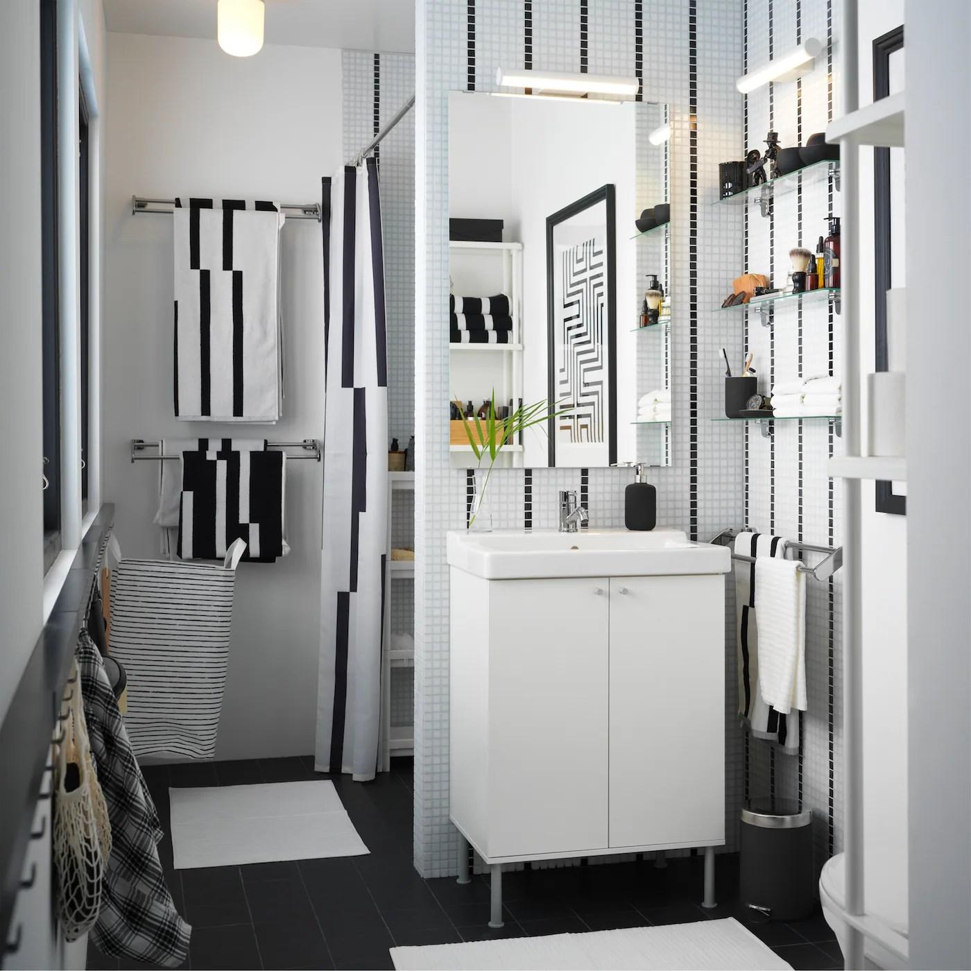 Jolie Petite Salle De Bain Fonctionnelle Ikea