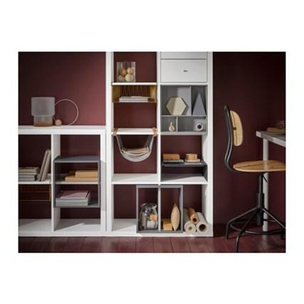 KALLAX カラックス ワイヤーバスケット IKEA 専用のインサートを使えば、収納ニーズに合わせてKALLAX/カラックス シェルフユニットをカスタマイズできます 大切な書類や手紙、雑誌をワイヤーバスケットに収納すれば、必要なときにすぐ取り出せます