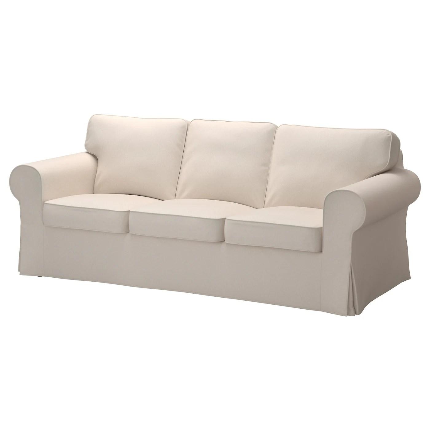 Ektorp Three Seat Sofa Lofallet Beige