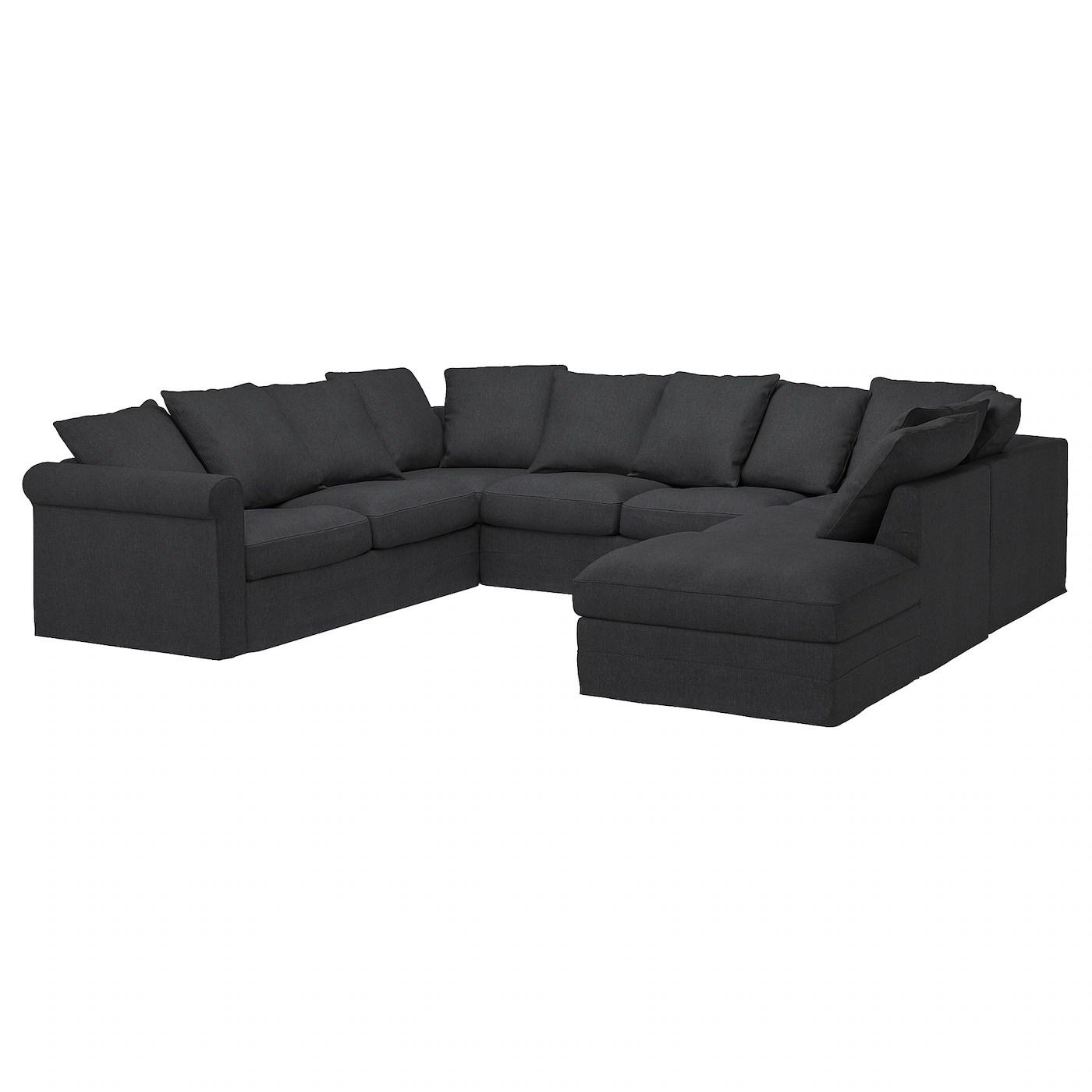 Gronlid U Shaped Sofa 6 Seat With Open End Sporda Dark Grey Ikea