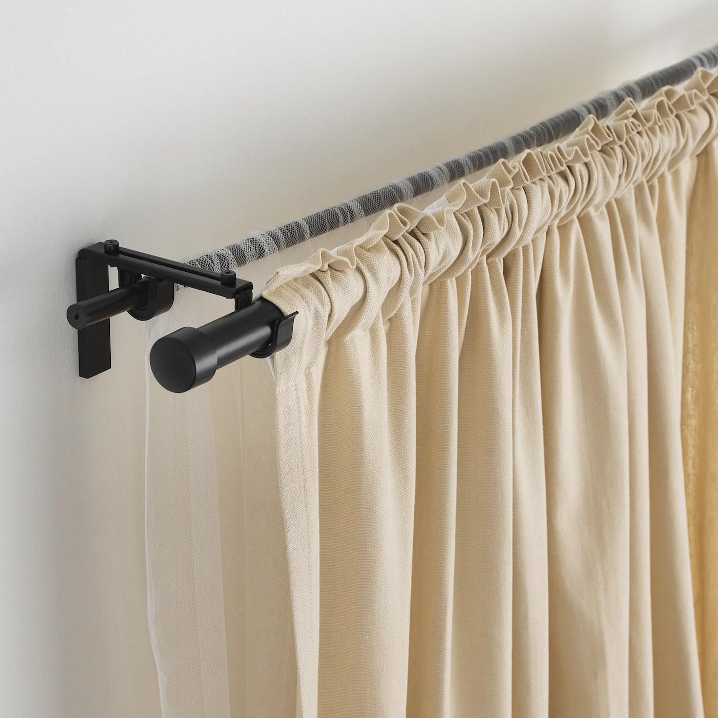 hugad curtain rod black 210 385 cm