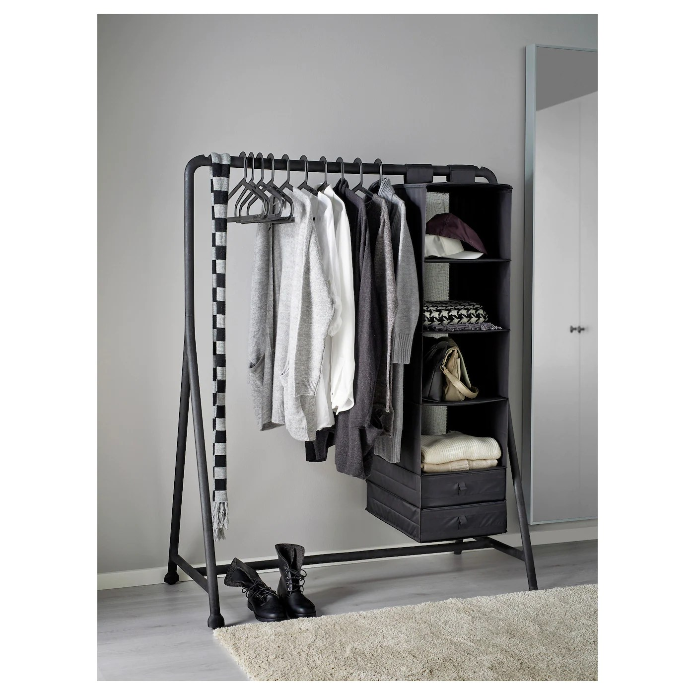turbo clothes rack in outdoor black 117x59 cm