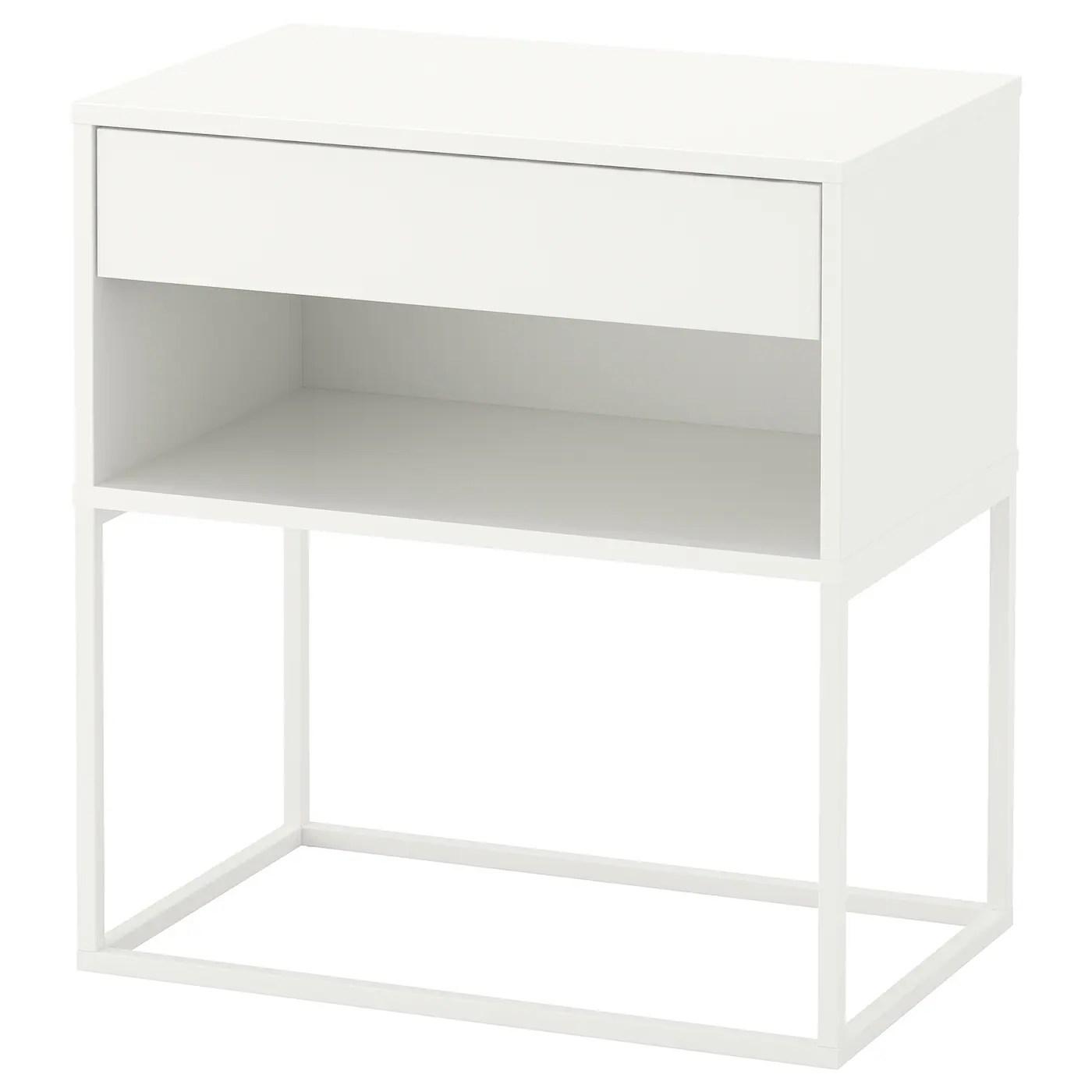 Vikhammer Bedside Table White