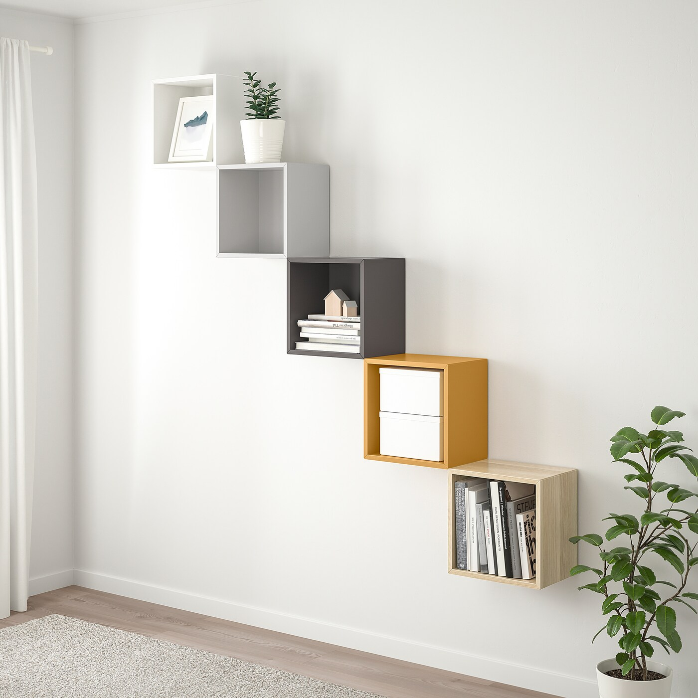 Eket Wall Mounted Storage Combination Multicolour 1 Ikea