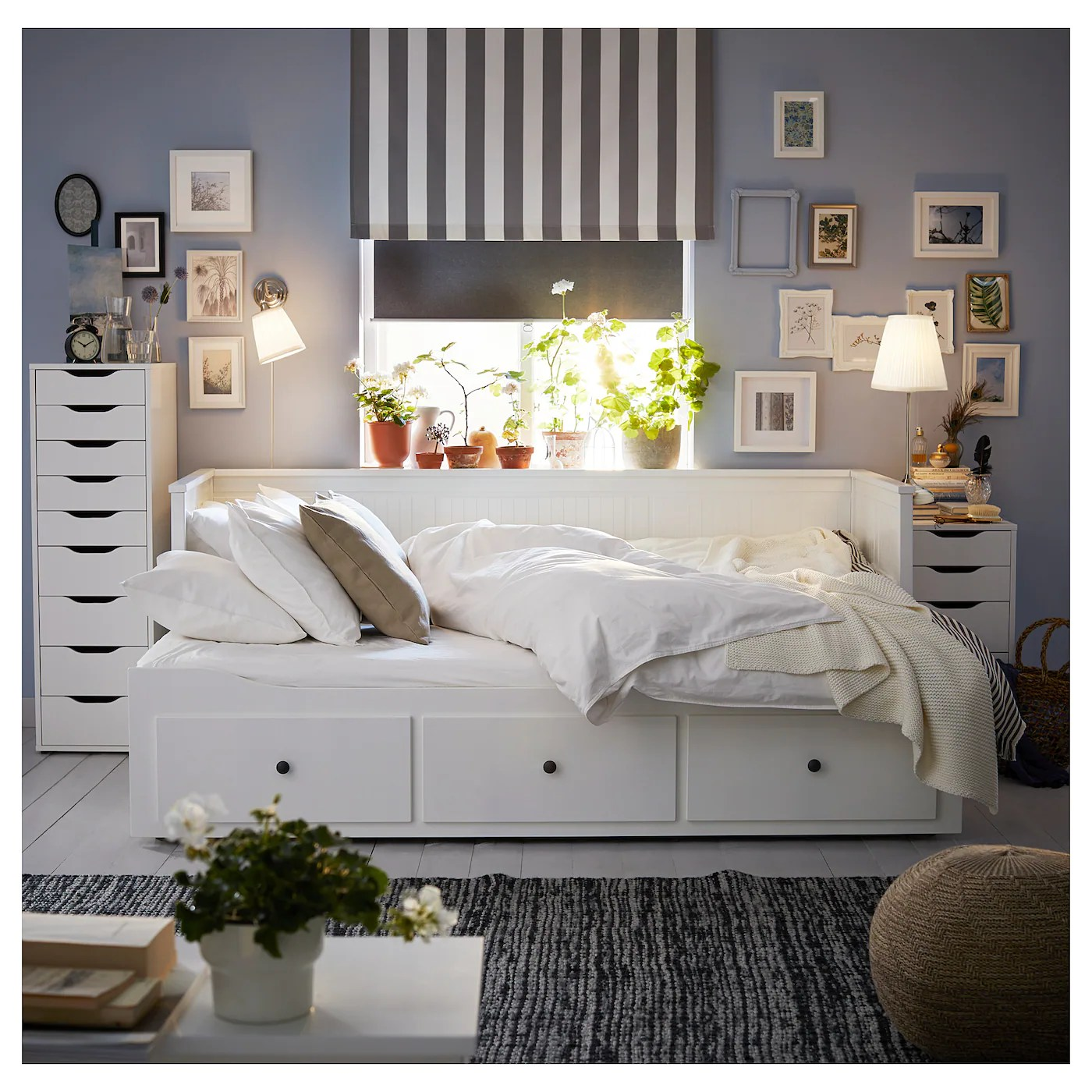 Hemnes Day Bed Frame With 3 Drawers White Ikea