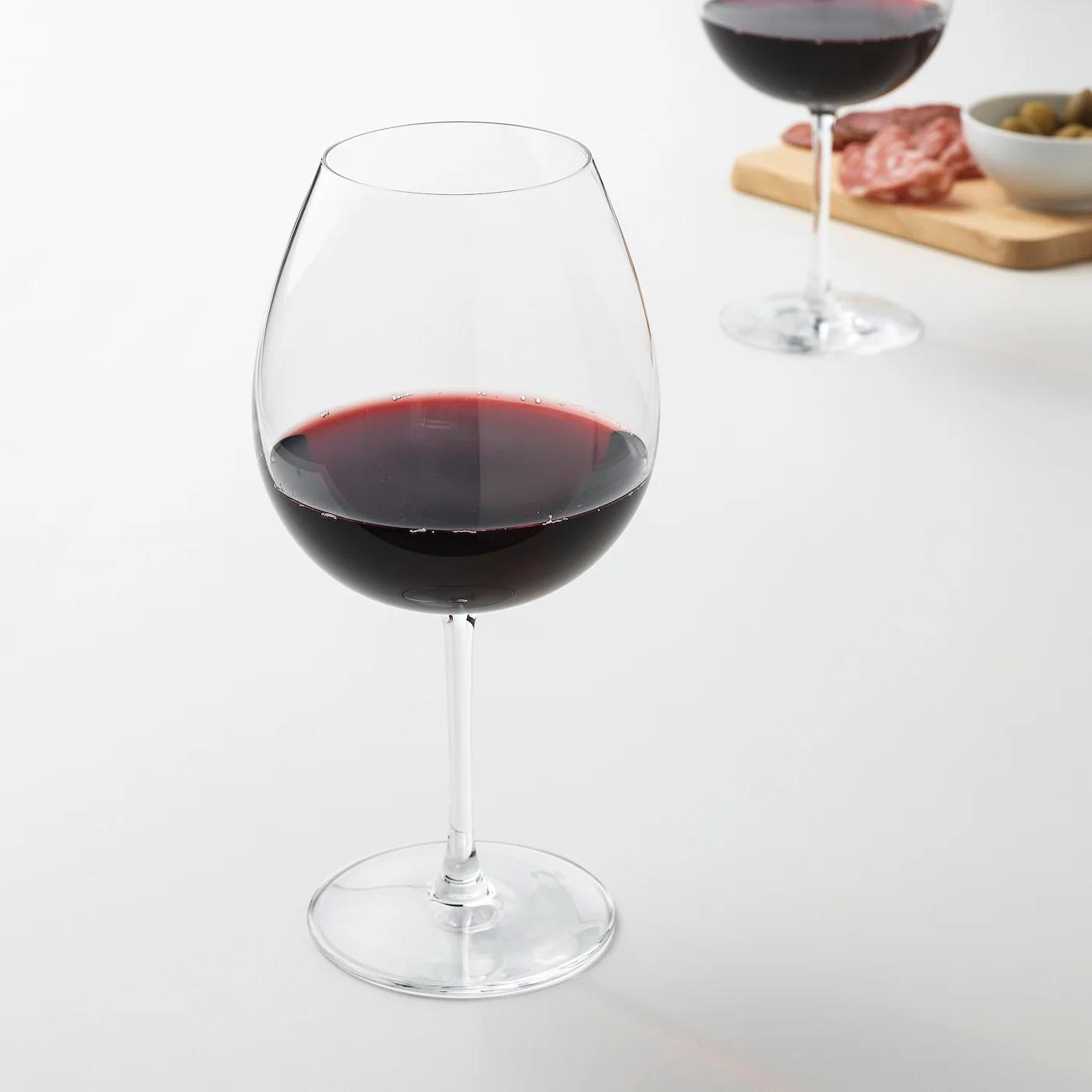 Storsint Red Wine Glass Clear Glass Ikea