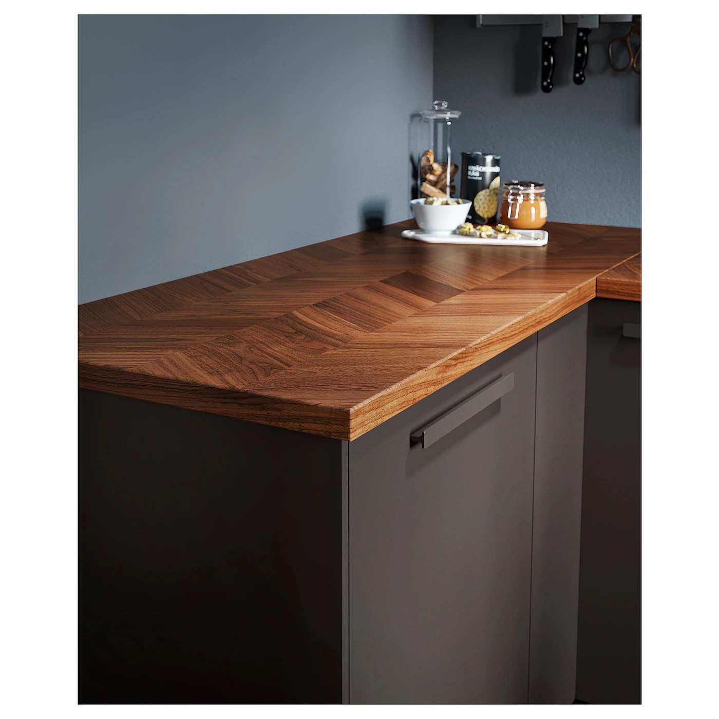 Barkaboda Worktop Walnut Veneer 186x3 8 Cm Ikea