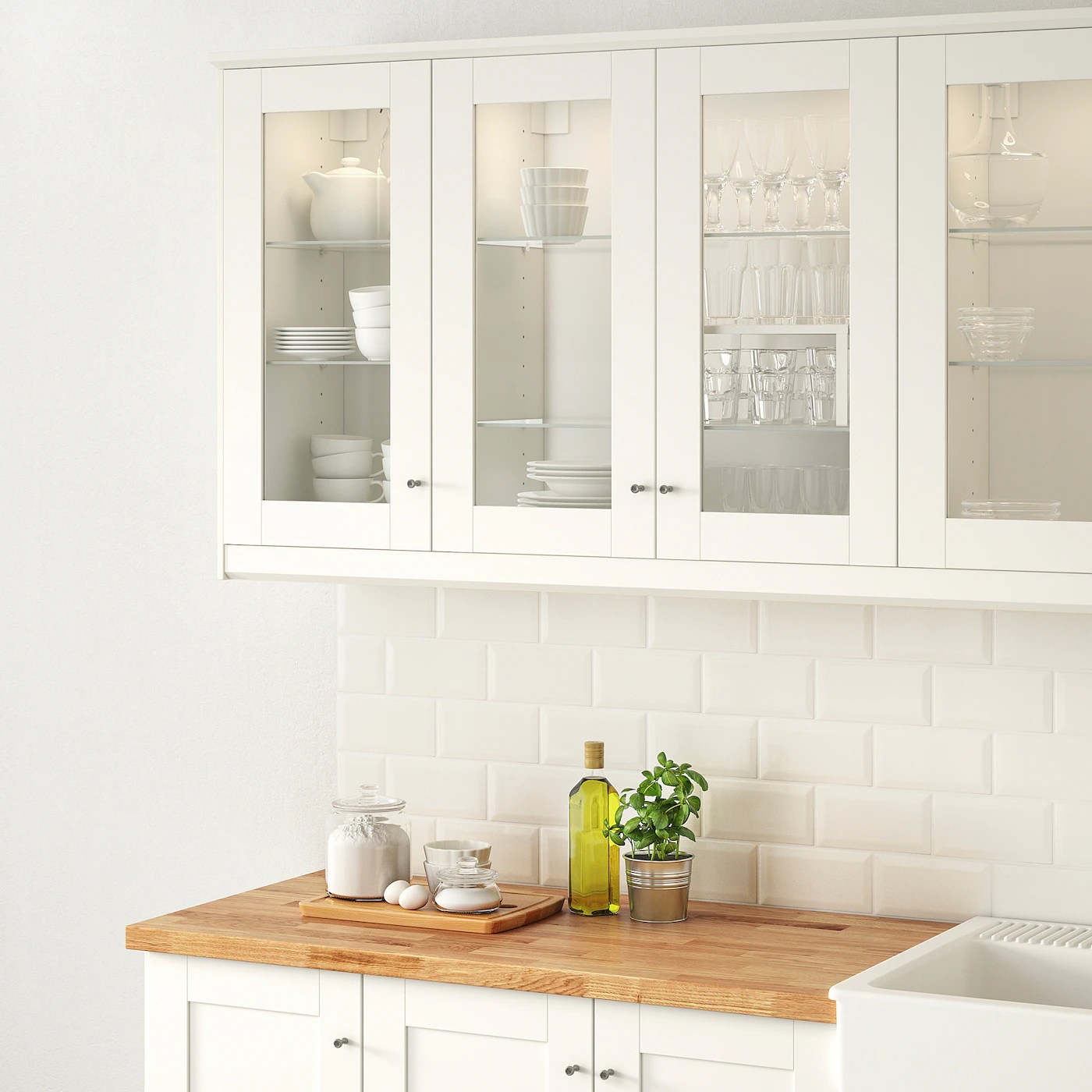 Savedal Glass Door White 30x100 Cm Ikea