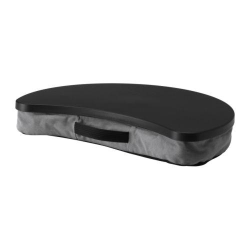 BRÄDA Laptopondersteuning, Alme zwart, grijs Breedte: 51 cm Diepte: 38 cm Hoogte: 8 cm