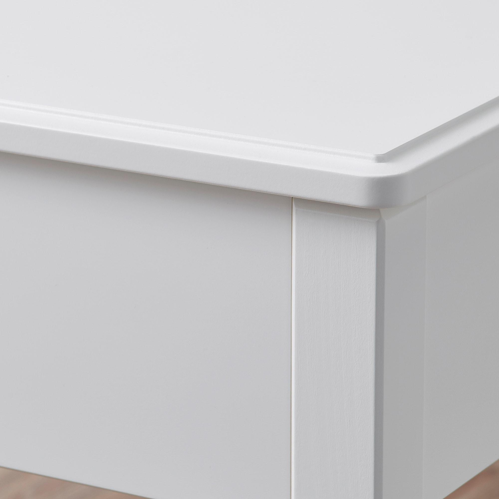 Tyssedal Tabouret Avec Rangement Blanc Ikea