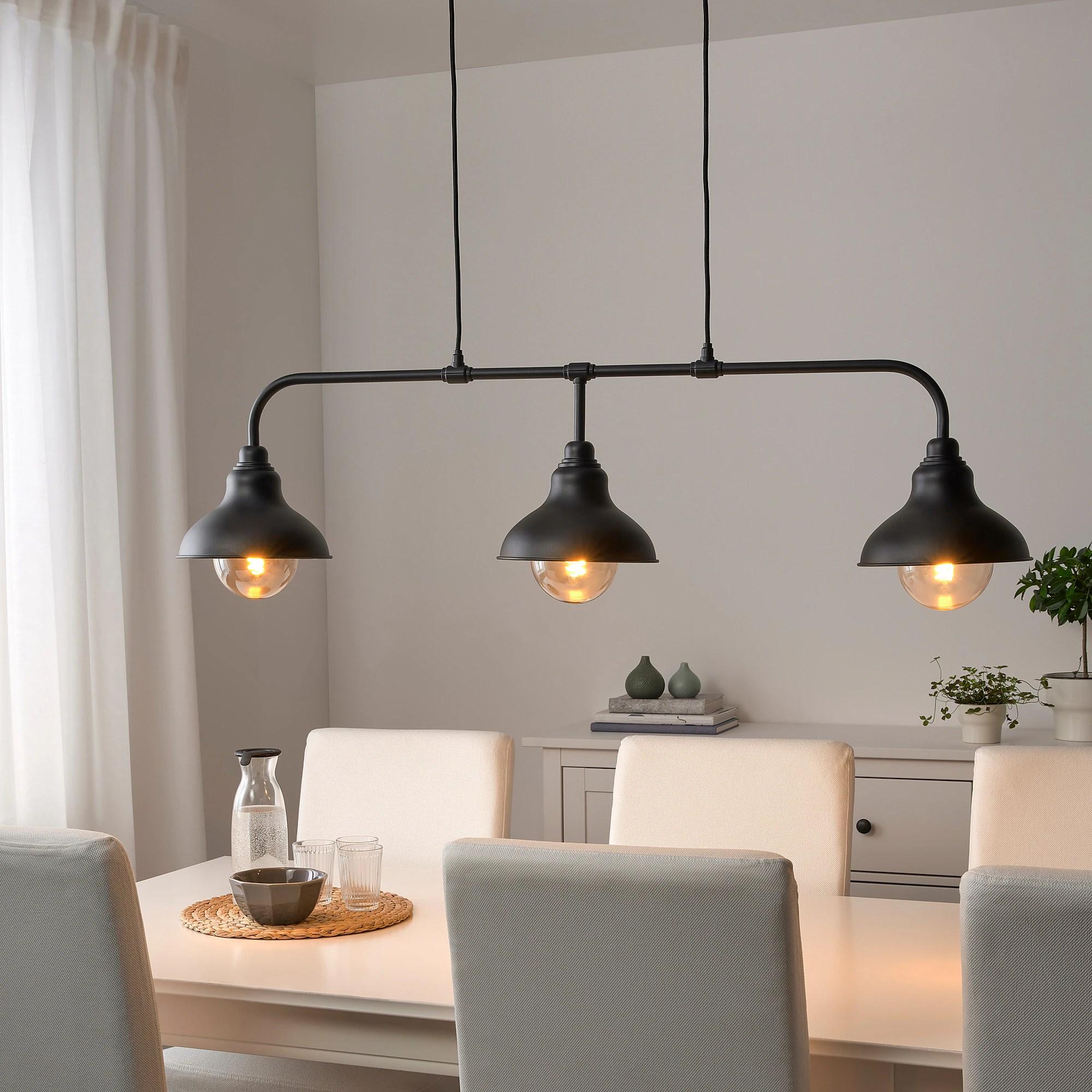 agunnaryd suspension a 3 lampes noir