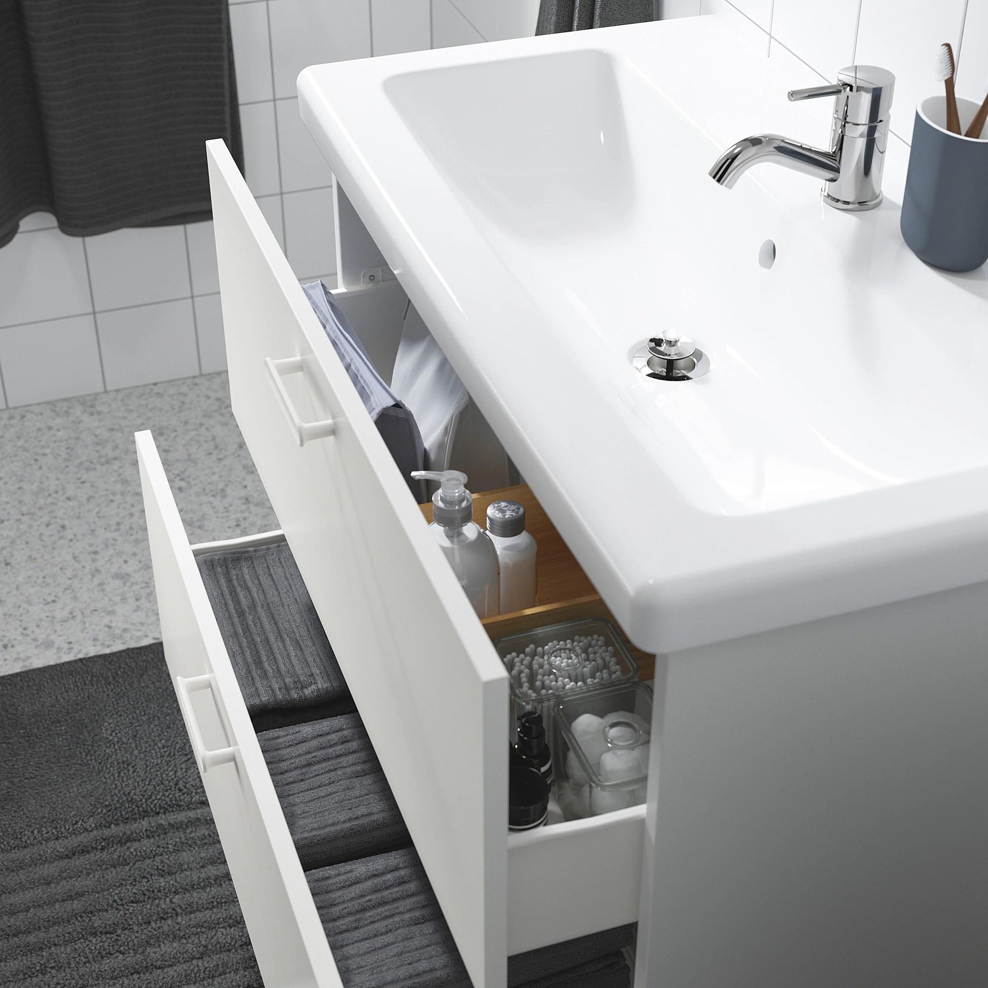 enhet tvallen meuble lavabo 2tir blanc pilkan mitigeur lavabo 84x43x87 cm