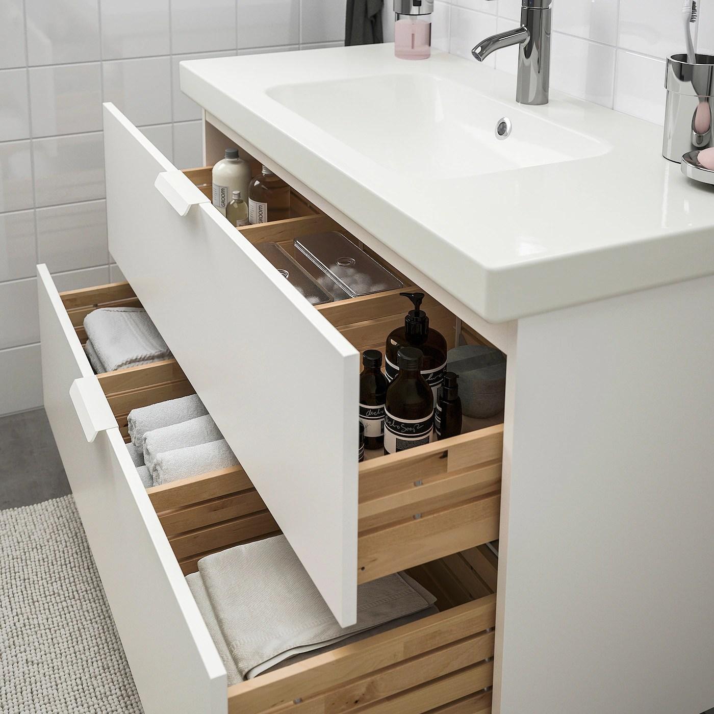 Godmorgon Odensvik Bathroom Furniture Set Of 4 White Dalskar Tap Width 103 Cm Ikea