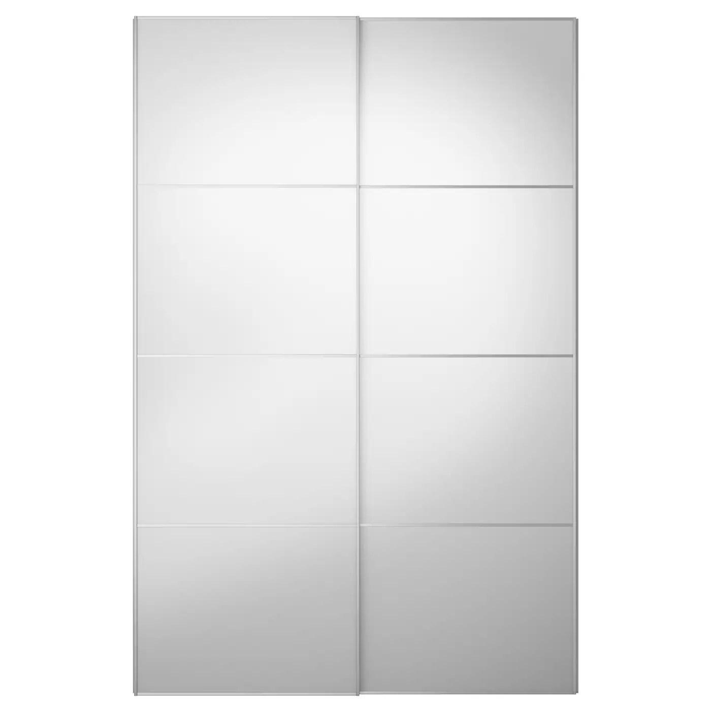 Auli Pair Of Sliding Doors Mirror Glass Ikea