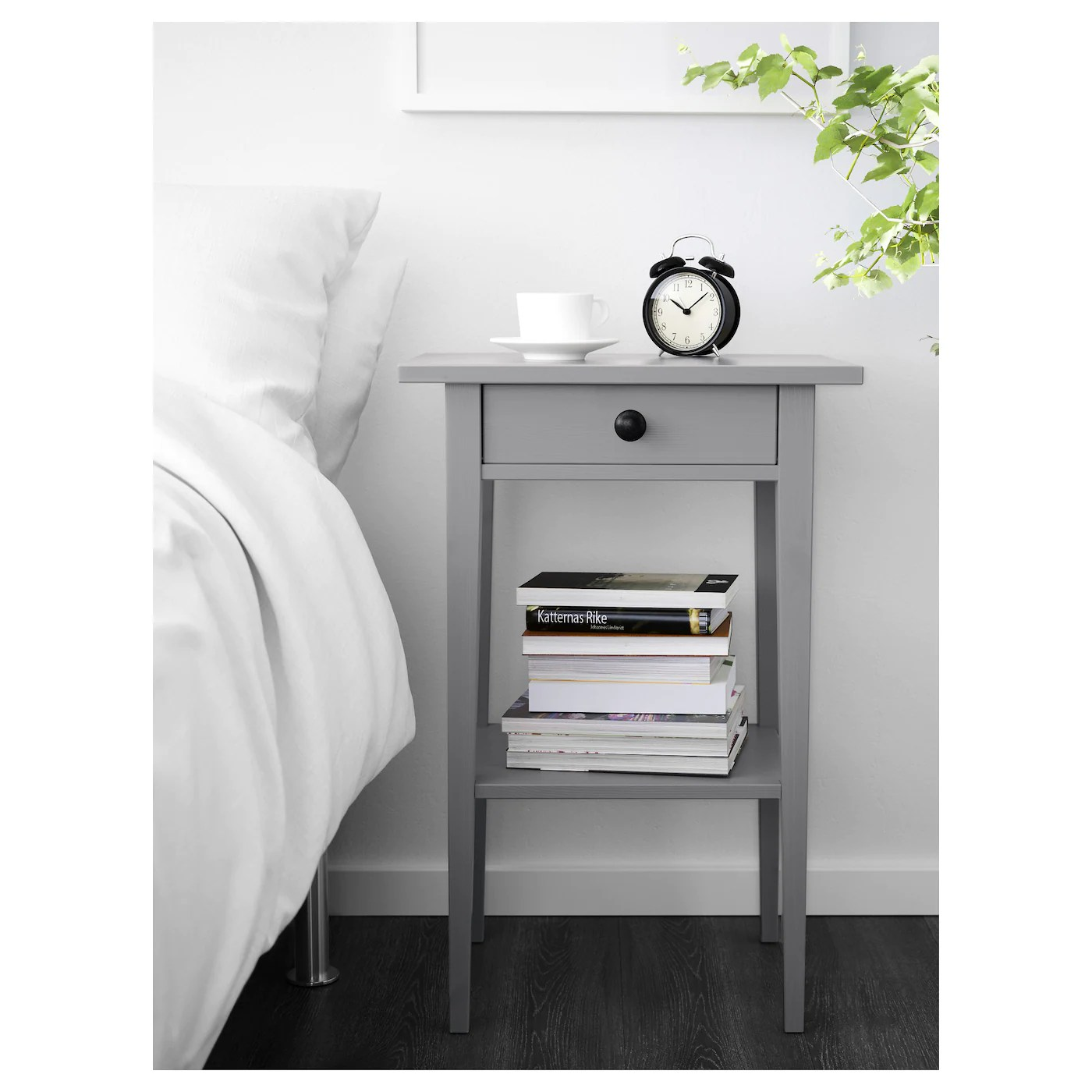 hemnes bedside table grey stained 46x35 cm