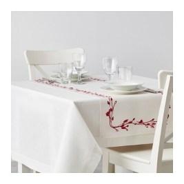 VINTER 2016 Şervet masă IKEA Amestesc bumbac/in; combină supleţea bumbacului cu luciul şi fermitatea inului.