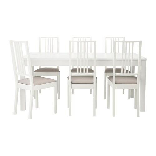 BJURSTA/BÖRJE Bord och 6 stolar IKEA