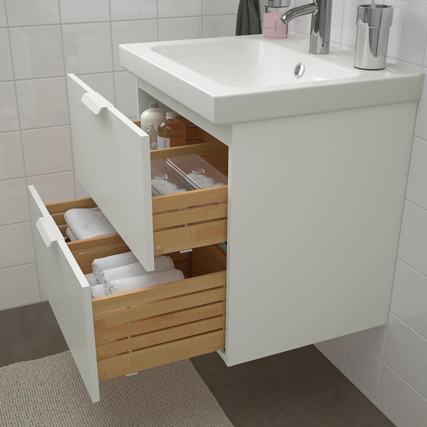 Godmorgon Odensvik Badrumsmobler 4 Delar Vit Dalskar Kran Bredd 63 Cm Ikea