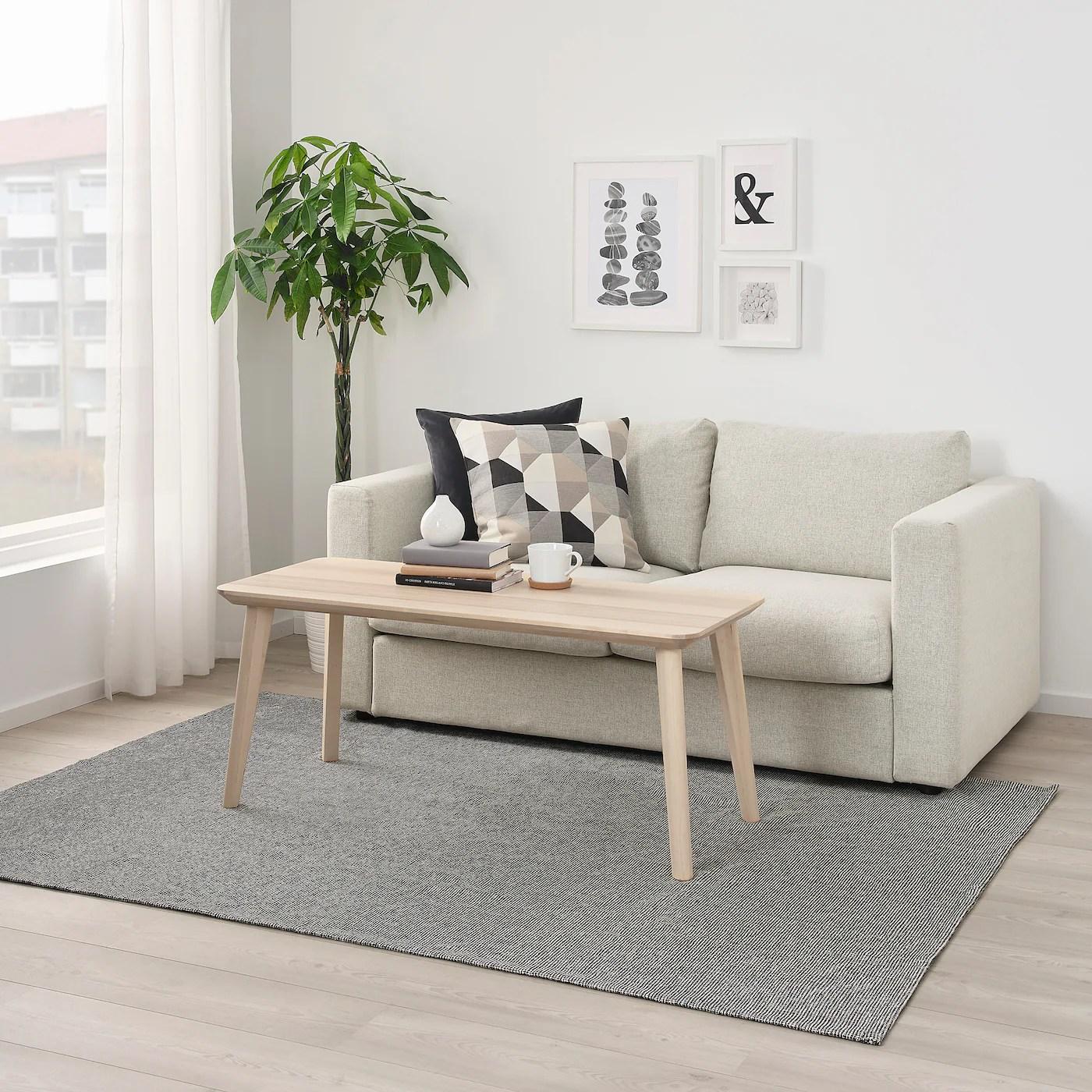 Tiphede Matta Slatvavd Gra Vit 155x220 Cm Ikea