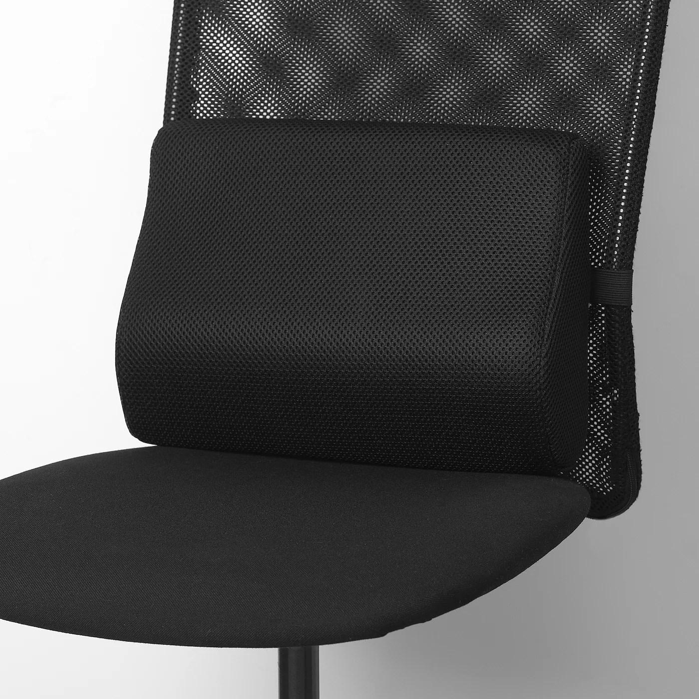 bortberg lumbar cushion black 31x23 cm