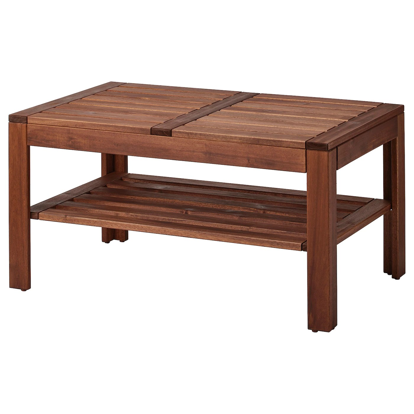 applaro coffee table outdoor brown stained 35 3 8x21 5 8