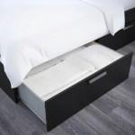 Brimnes Bed Frame With Storage Headboard Black Luroy Queen Ikea