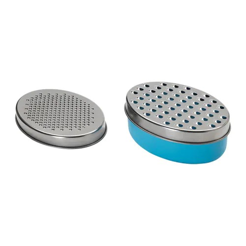 CHOSIGT Grater with container IKEA Also suitable for storage purposes; lid included. The airtight seal helps food retain its flavor and aroma longer.