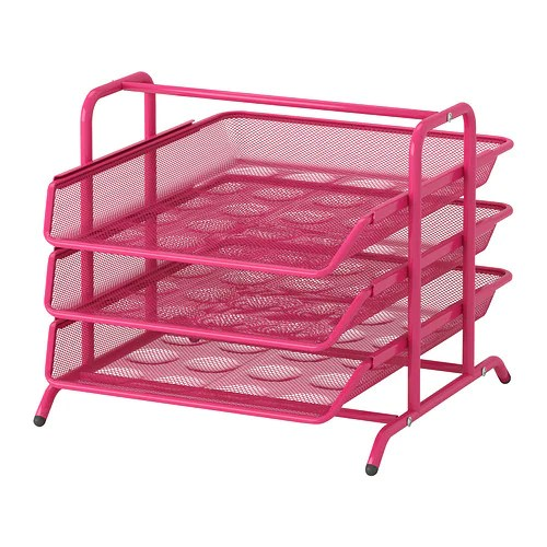 DOKUMENT Letter Tray Pink IKEA