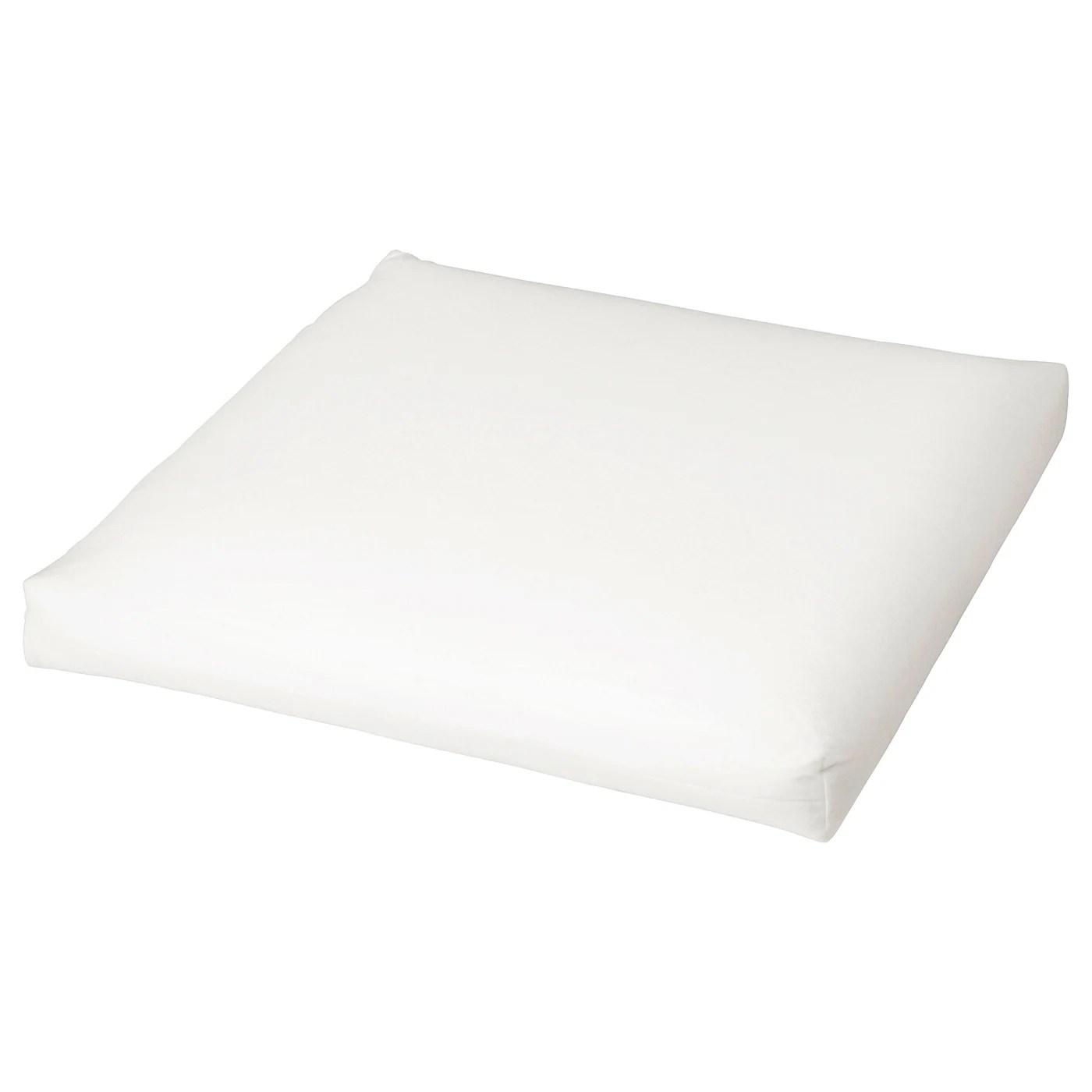 duvholmen inner chair pad outdoor white 17 3 8x17 3 8