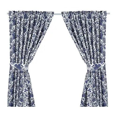 EMMIE KVIST Curtains with tie-backs, 1 pair IKEA