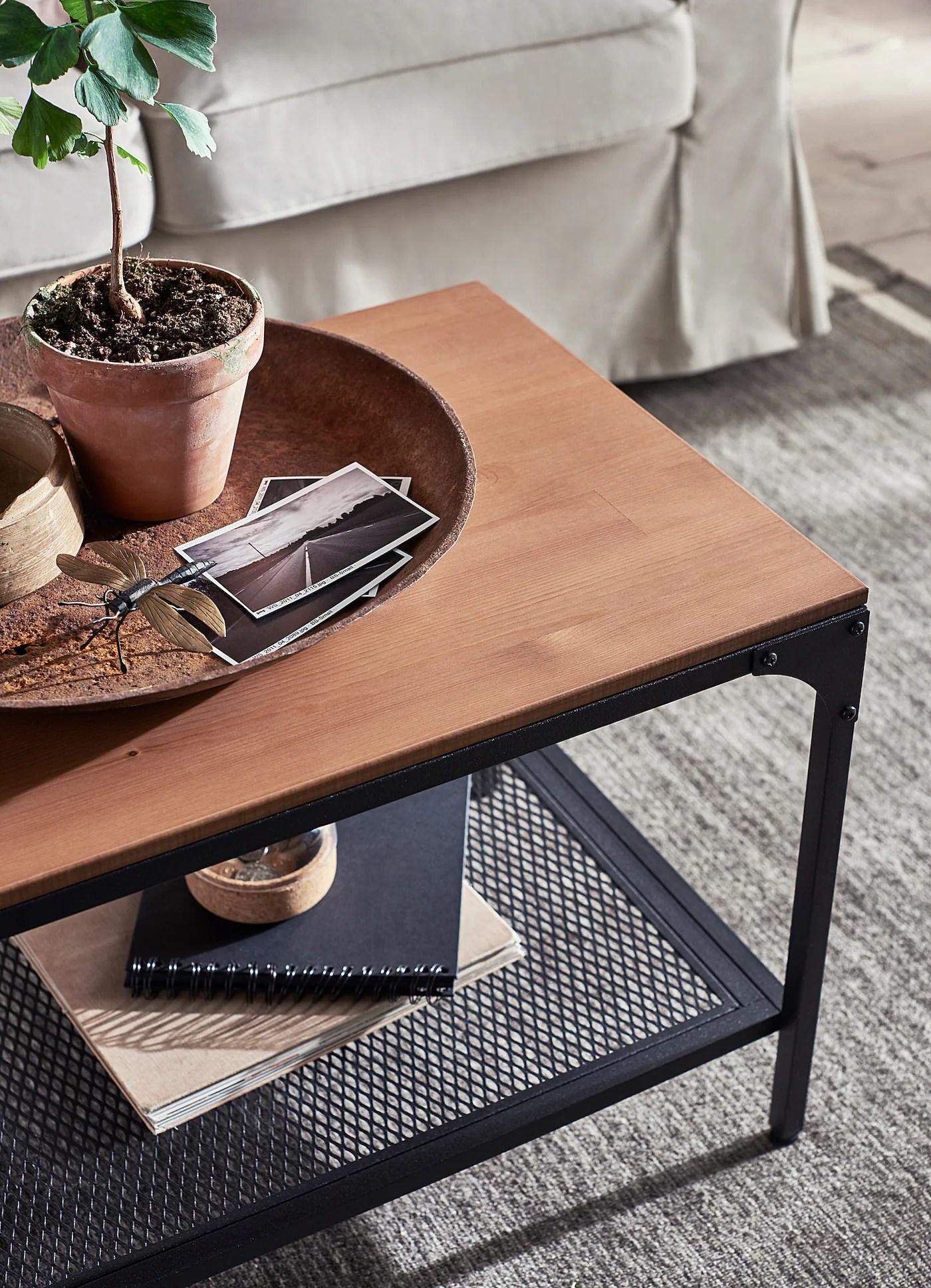 fjallbo coffee table black 35 3 8x18 1 8