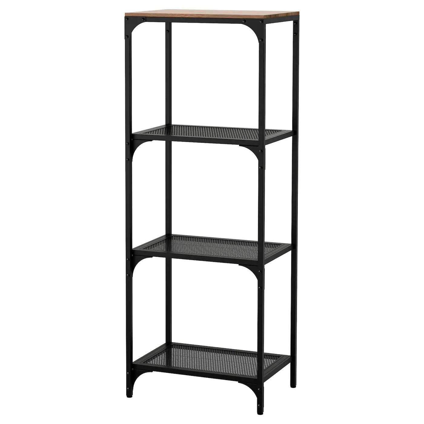 fjallbo shelf unit black 20 1 8x53 1 2