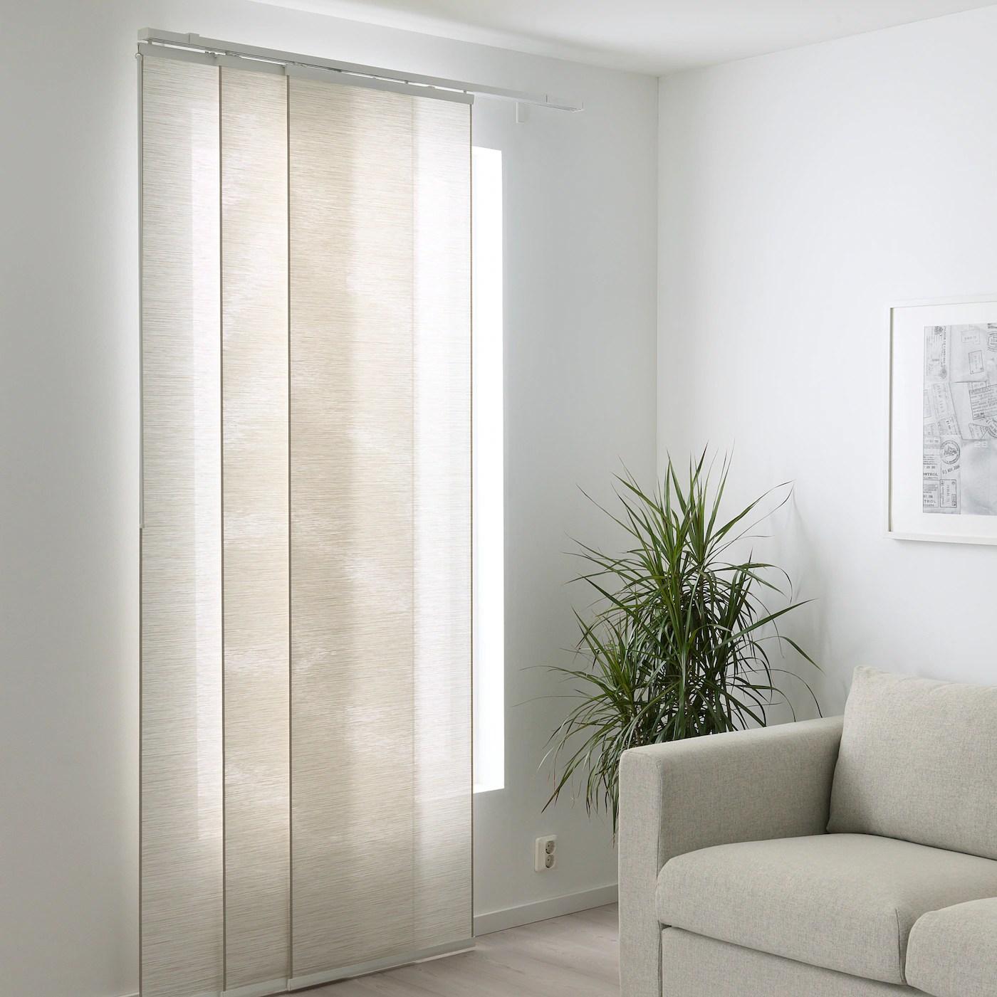 fonsterviva panel curtain white beige 24x118