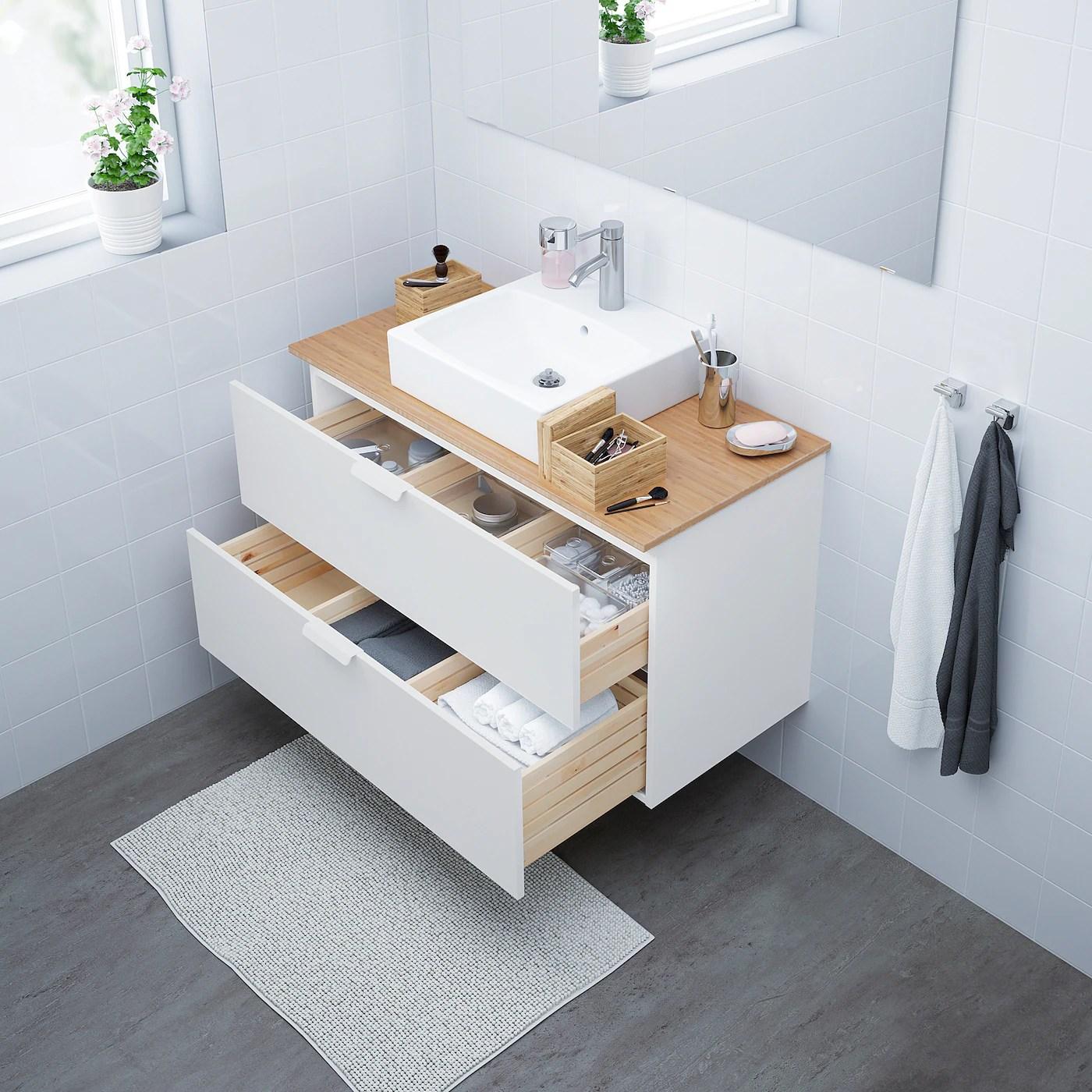 godmorgon tolken tornviken vanity countertop and 17 3 4 sink white bamboo dalskar faucet 40 1 8x19 1 4x28 3 8