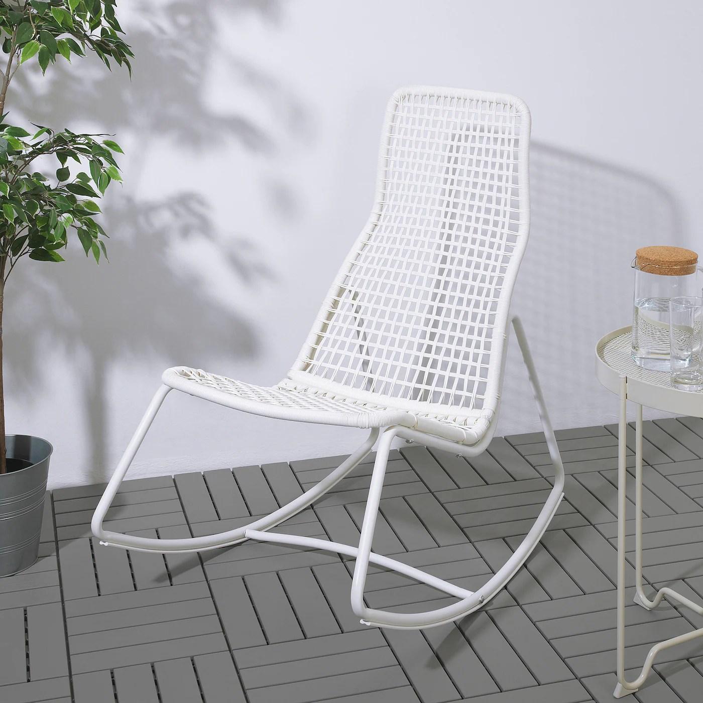gubbon rocking chair in outdoor white