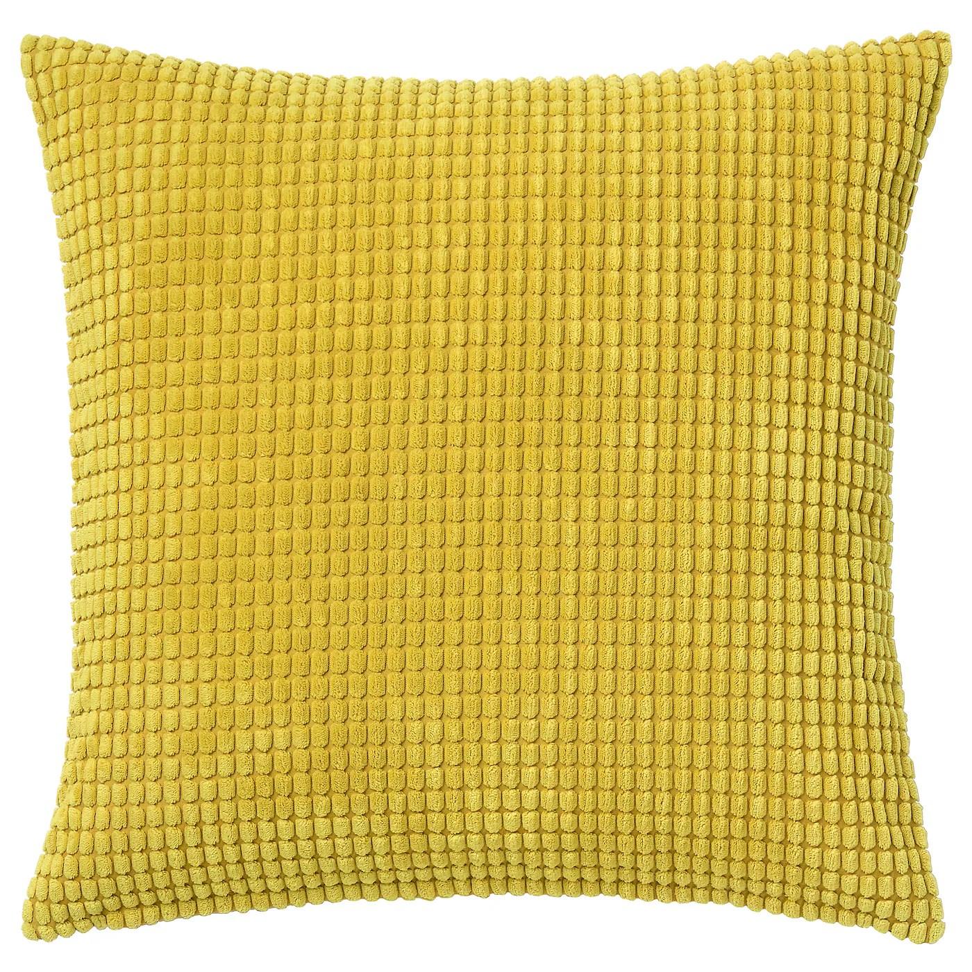 gullklocka cushion cover yellow 20x20