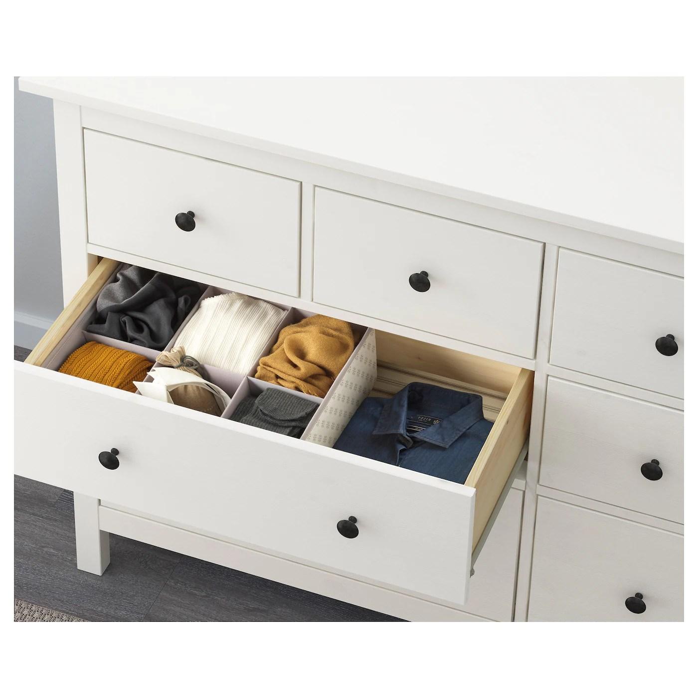 hemnes 8 drawer dresser white stain 63x37 3 4