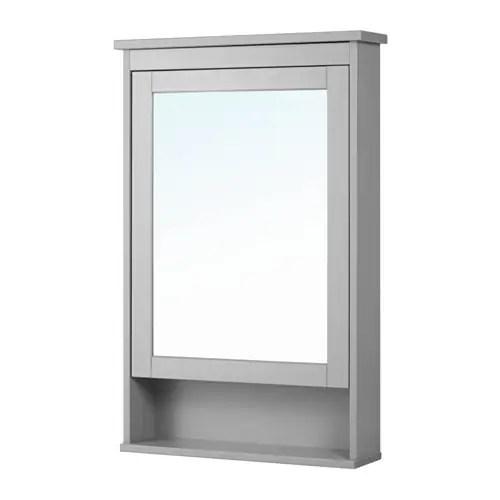 HEMNES Mirror Cabinet With 1 Door Gray IKEA