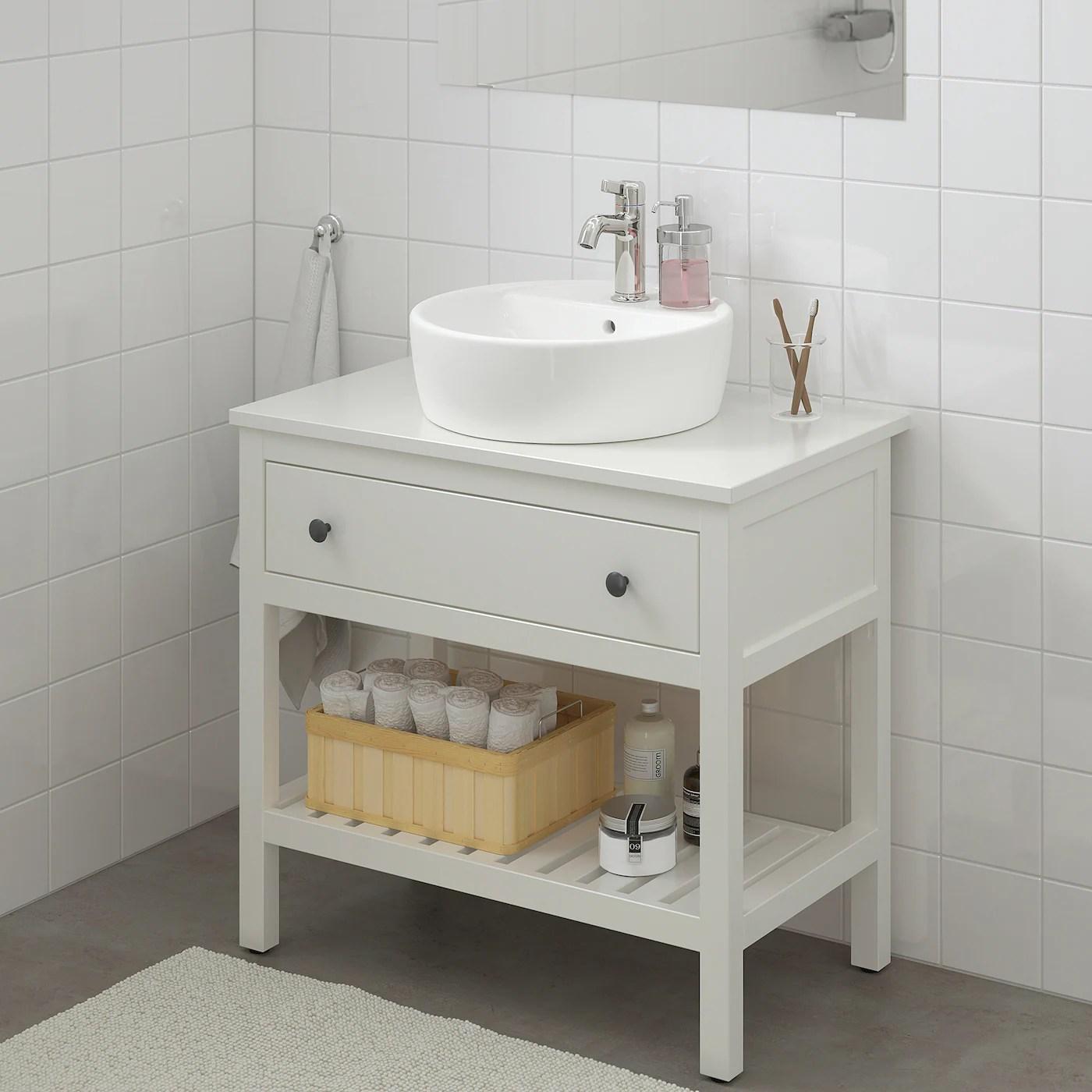 hemnes tornviken open sink cabinet with 17 sink white voxnan faucet 32 1 4x18 7 8x35 3 8