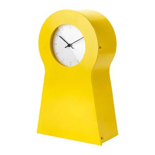 IKEA PS 1995 Clock IKEA The clock is also a good storage place for small items. Can be hung on the wall or placed on a shelf.