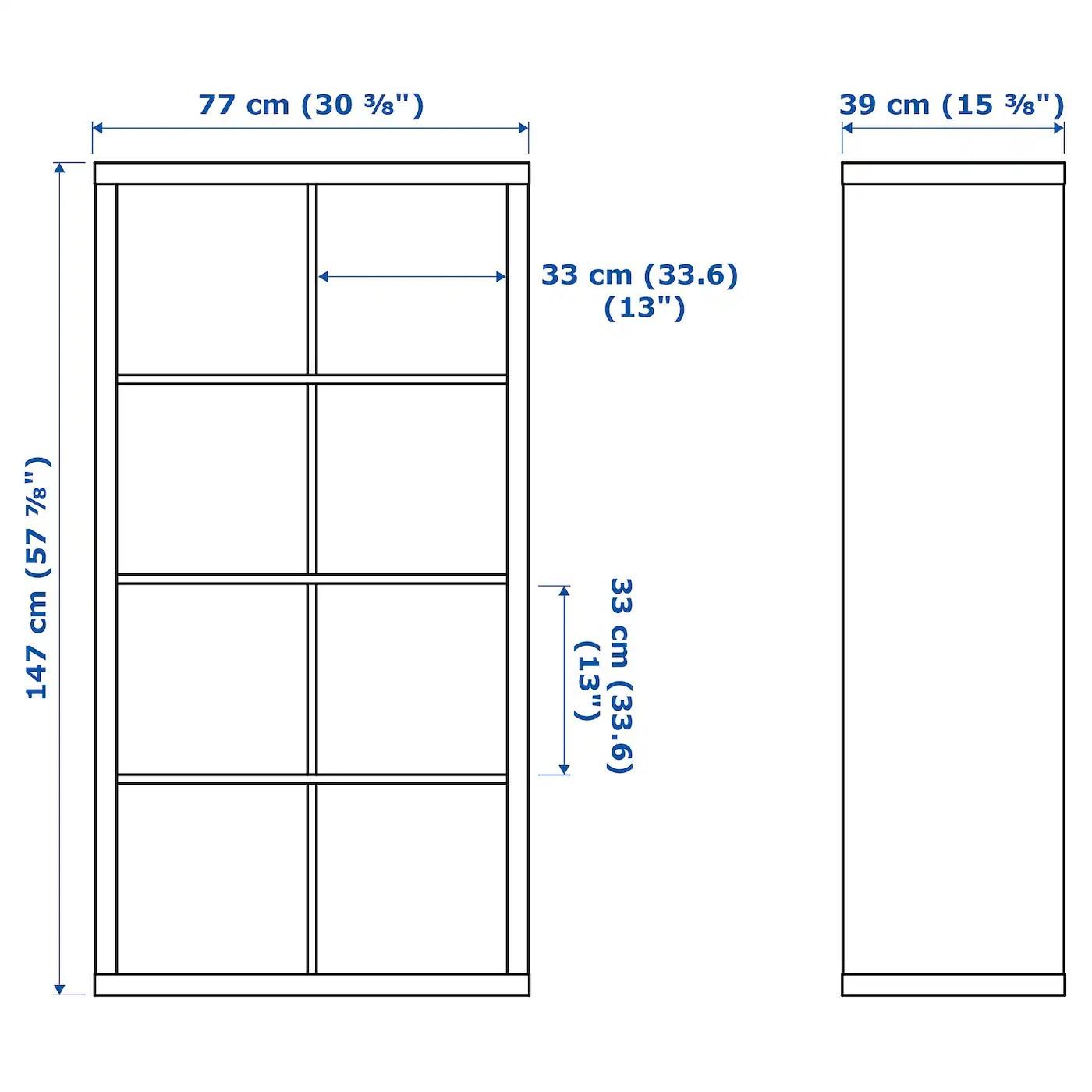 kallax shelf unit black brown 30 3 8x57 7 8