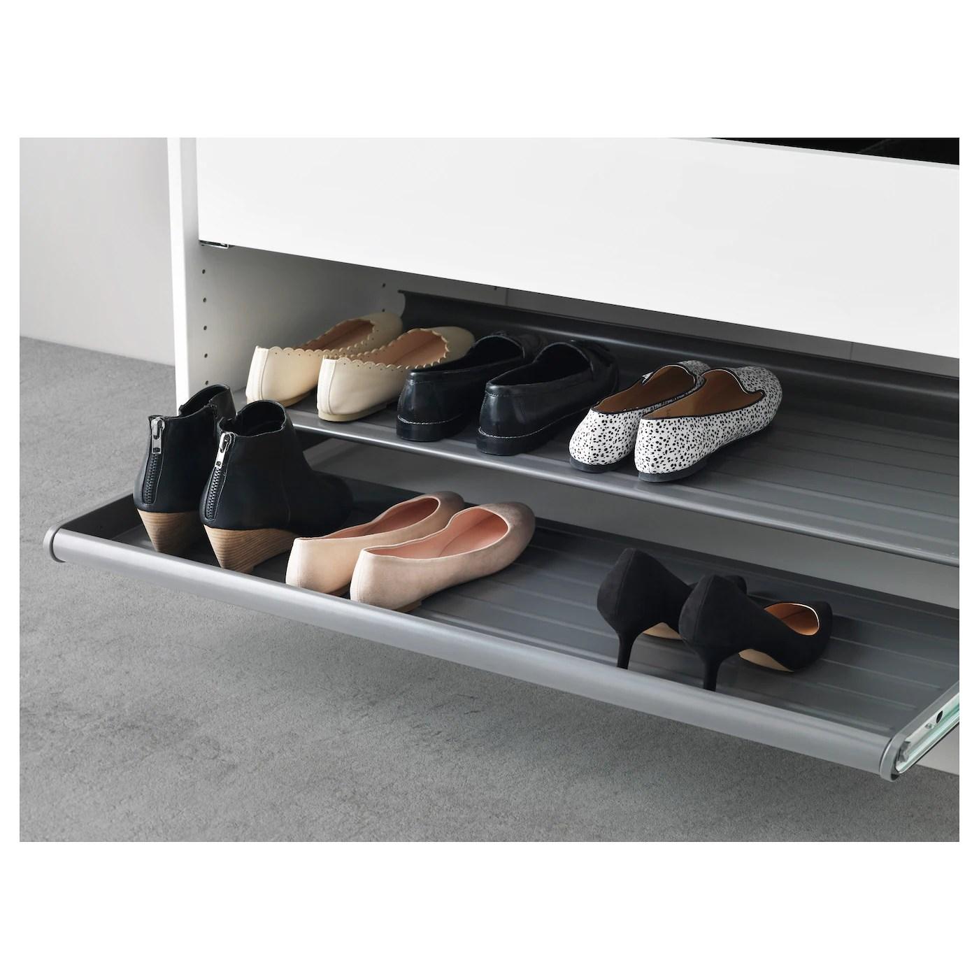 komplement pull out shoe shelf dark gray 39 3 8x22 7 8