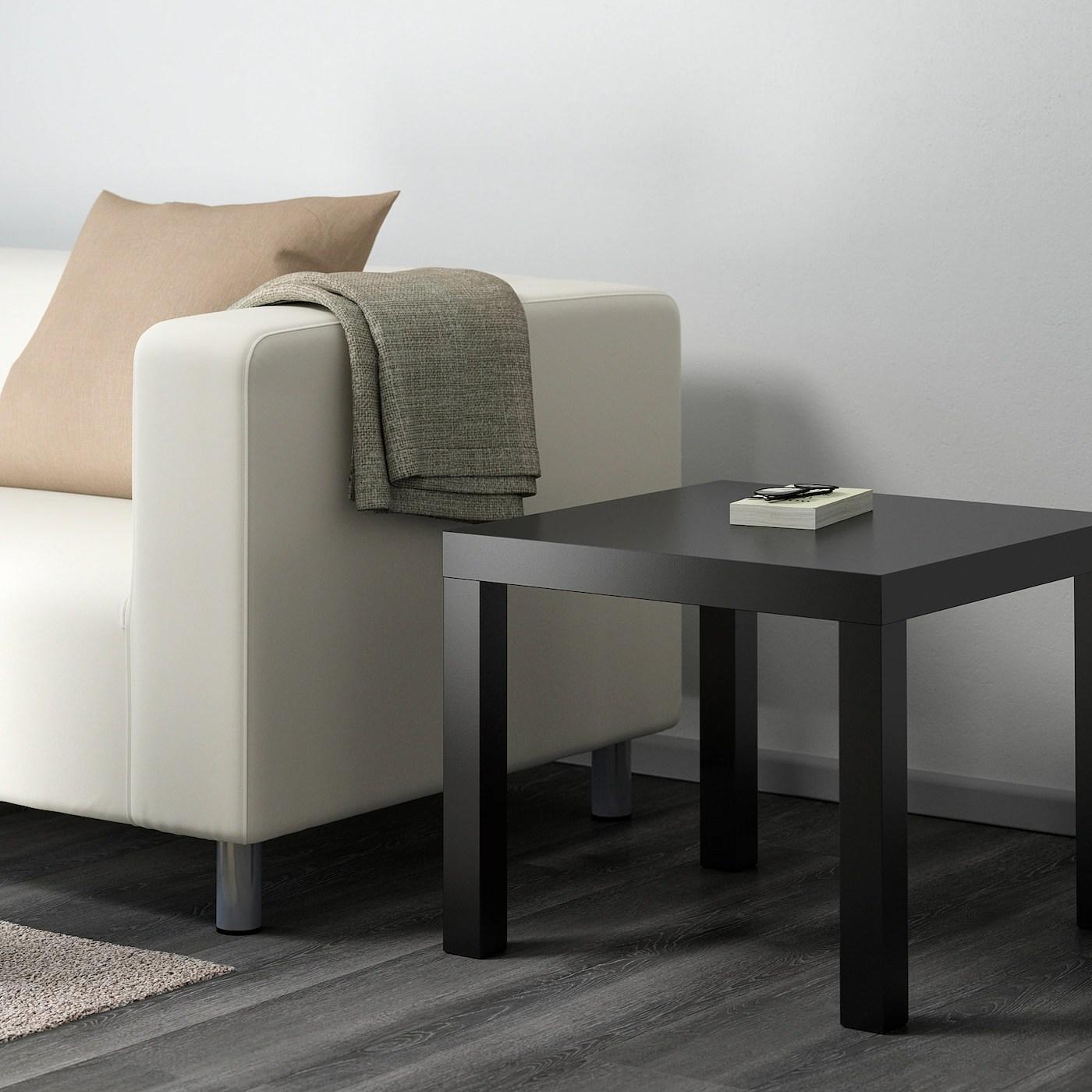 lack side table black 22x22